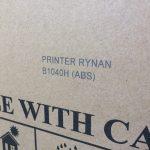 Пример печати термоструйным принтером Rynan R1040H